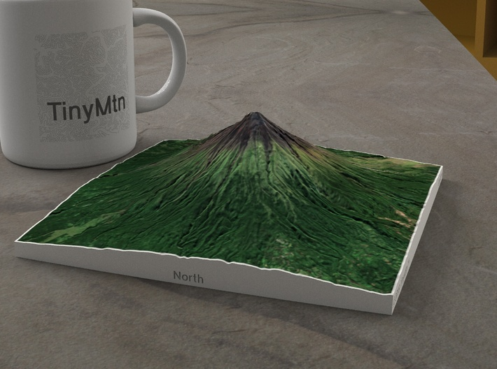 Mayon Volcano, Philippines, 1:50000 Explorer 3d printed