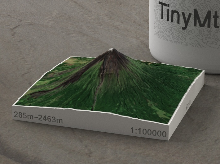 Mayon Volcano, Philippines, 1:100000 3d printed