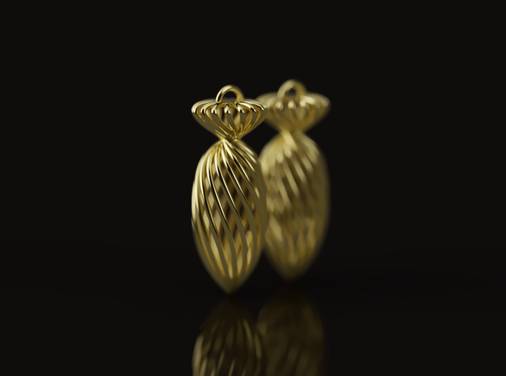 Earing TheBomb ~mk1 3d printed Illustrative 3d render