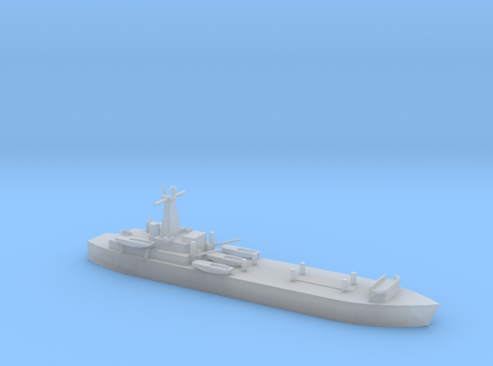 1/1250 Scale British LST-3 3d printed