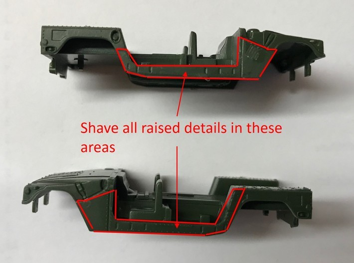 M1151 Humvee Armor w/ Gunner's Protection Kit 3d printed Shave raised details as shown
