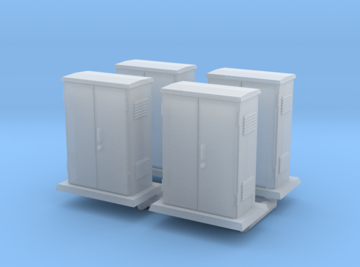 Padmount Electrical Box 01. 1:72 Scale 3d printed