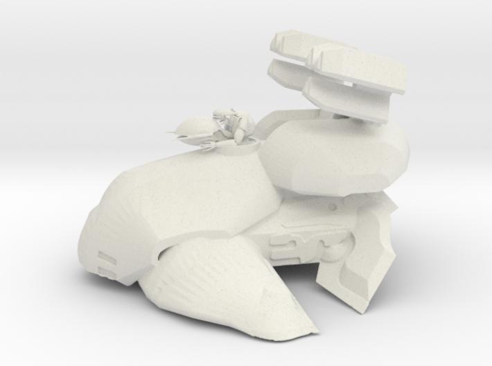 Alien Anti Air Tank with Gunner 3d printed