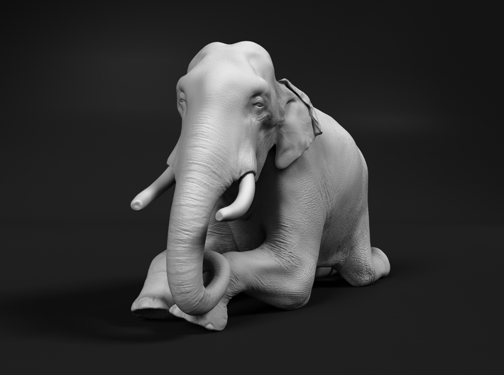 Indian Elephant 1:22 Kneeling Male 3d printed