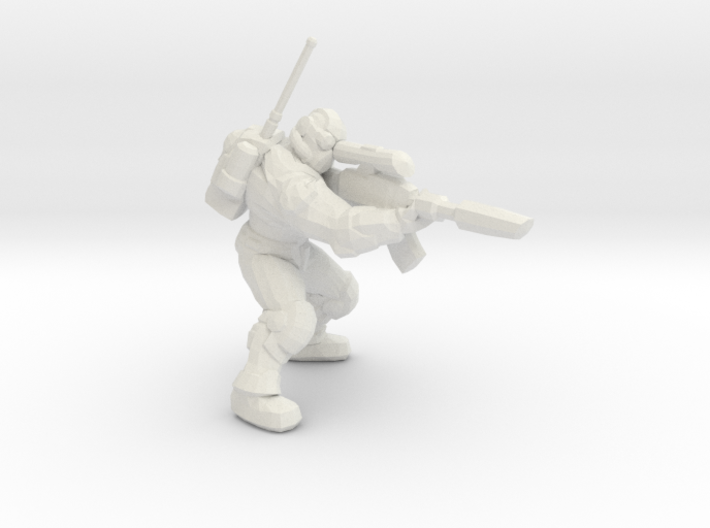 Starcraft 1/60 Ghost Nuclear Weapon Launching Pose 3d printed