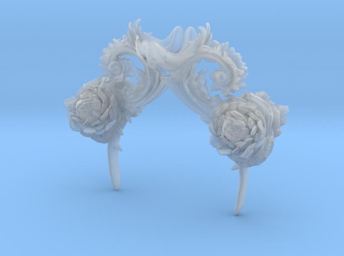 Rococo Headpeice 3d printed