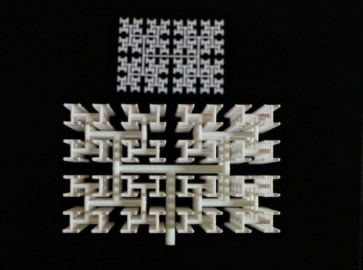 Space-Filling Binary Tree 3d printed