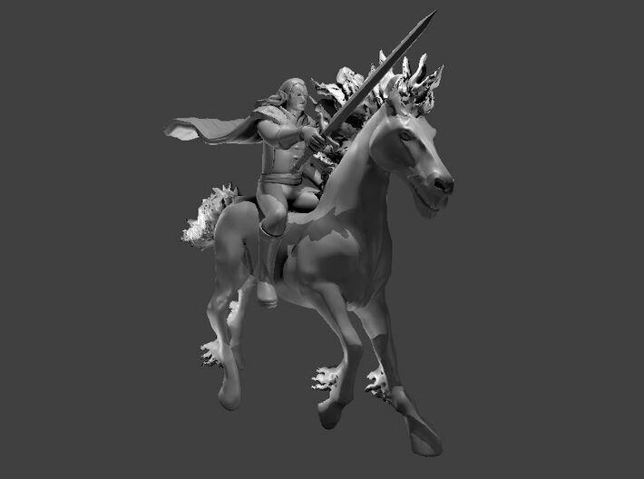 Strahd and Bucephalus 3d printed