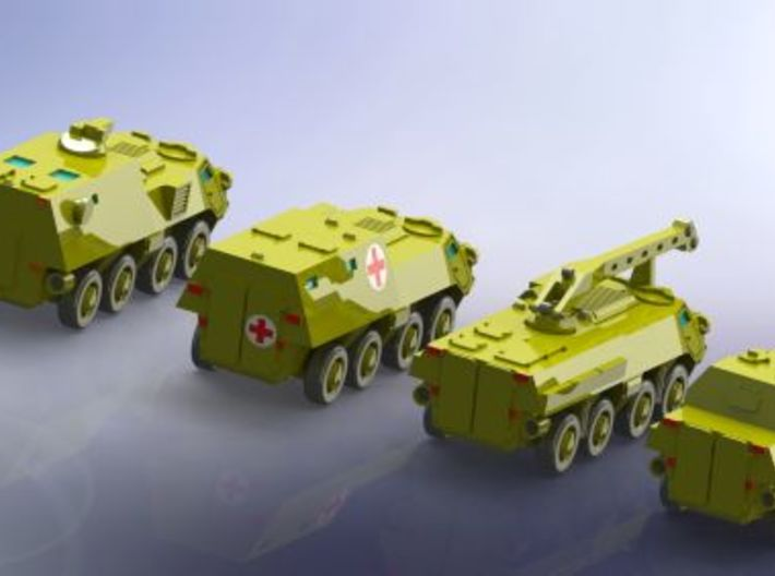 BTR-4 Ukrainian APC Family 1  1/285 6mm 3d printed Add a caption...