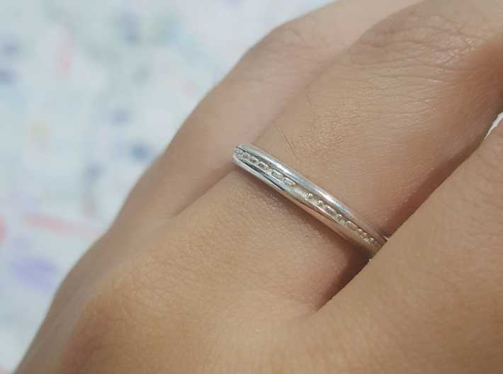 3mm Morse Code Ring [Customisable] - US Size 8 3d printed