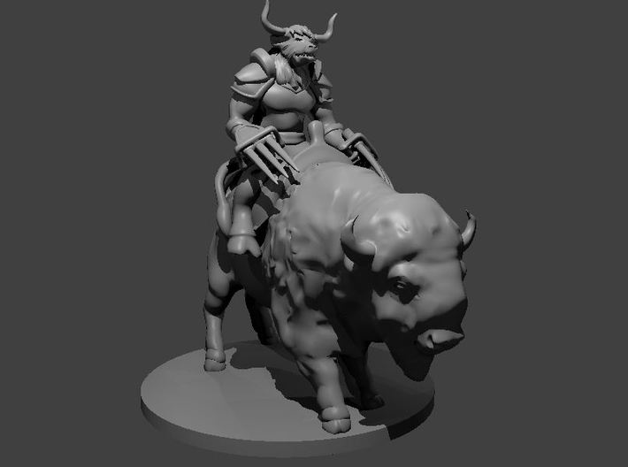 Minotaur Fighter on Buffalo 3d printed
