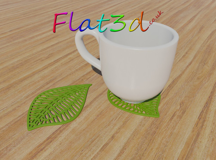 Leaf Drink Coaster 3d printed Leaf Shaped Drink Mat