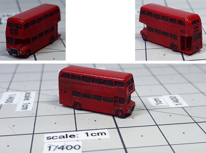 Routemaster Double Decker Bus 3d printed