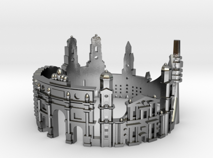 Munich Skyline - Cityscape Ring 3d printed