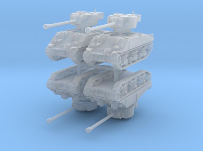 Sherman VC Firefly (x4) 1/220 3d printed