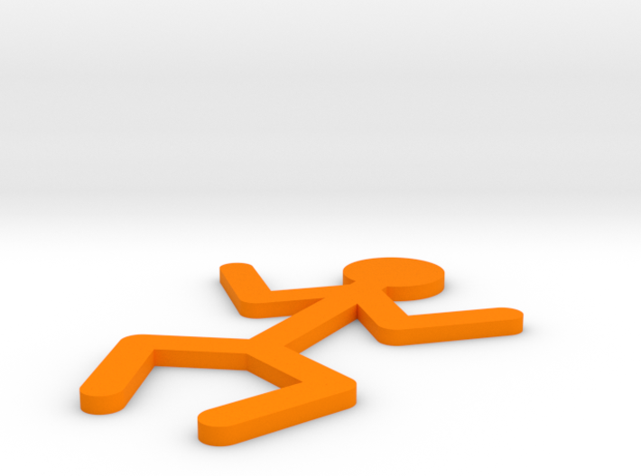 [1DAY_1CAD] STICKMAN_STANDING 3d printed