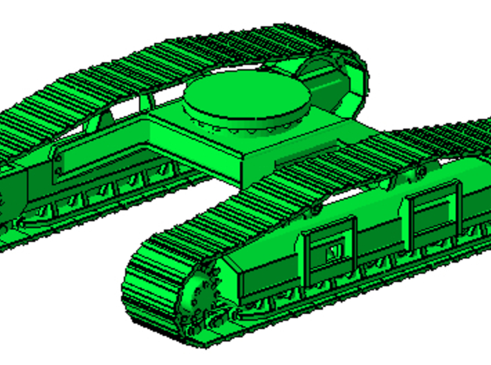 1/64th Forestry Undercarriage for Heavy Equipment 3d printed