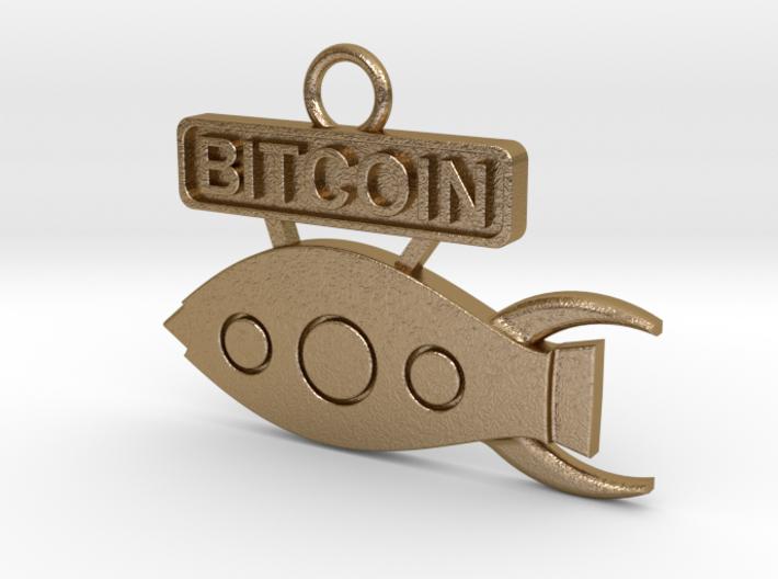Bitcoin - Rocket To The Moon - v1 3d printed