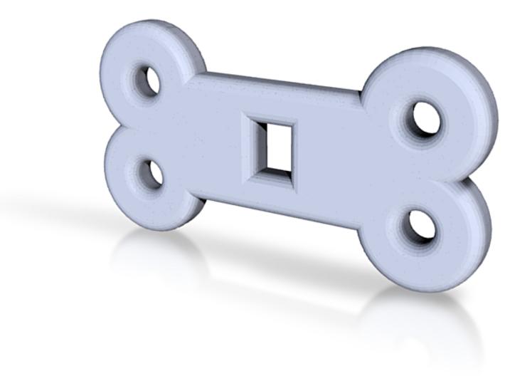 Dog Bone Collar Plate 3d printed