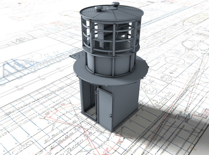 1/48 Flowers Class RDF Lantern Office 1942 3d printed 3d render showing product detail