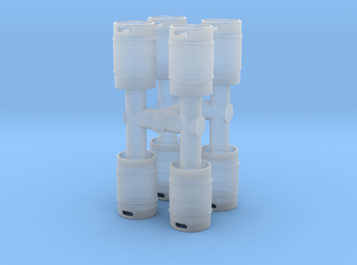Beer Keg (8 pieces) 1/43 3d printed