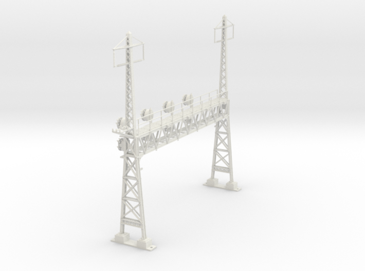 CATENARY PRR LATTICE SIG 4 TRACK 2 PHASE N SCALE 3d printed