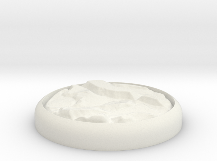 "Rocky 1"" Circular Miniature Base Plate 3d printed"