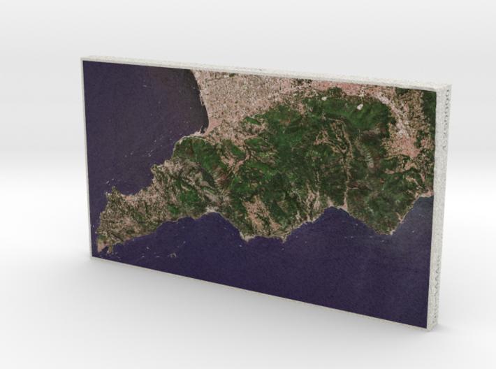 Amalfi Coast, Campania, Italy, 1:250000 3d printed