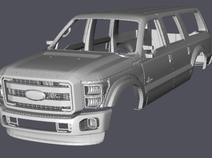 Hood Doors Tailgate 1/10 Ford Excursion body parts 3d printed