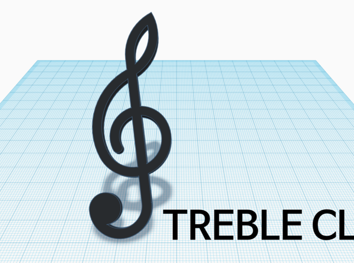 [1DAY_1CAD] TREBLE CLEF 3d printed
