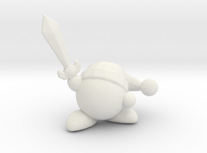 Kirby with Sword 1/60 miniature for games and rpg 3d printed