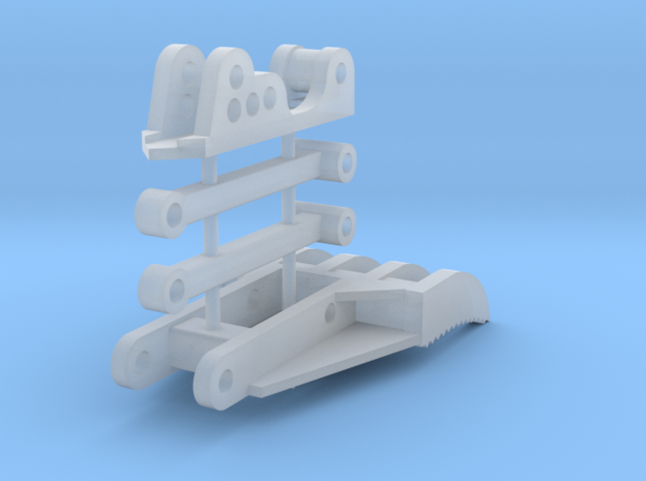 """1:50 Manual thumb for JW 48"""" buckets, and DM 320F. 3d printed"""