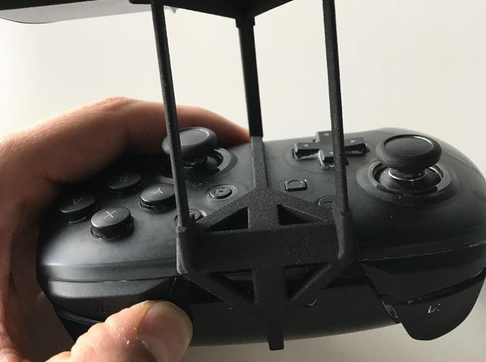 Nintendo Switch Pro controller & Motorola One Visi 3d printed Nintendo Switch Pro controller - Over the top - Back View