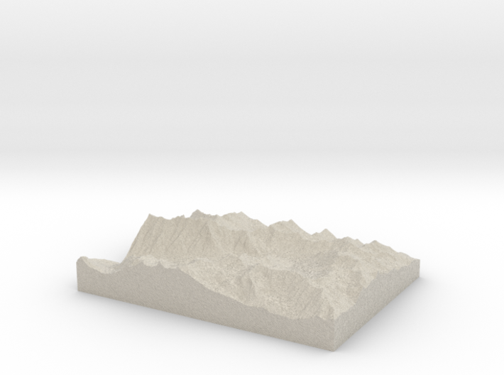 Model of Quincy Mines 3d printed