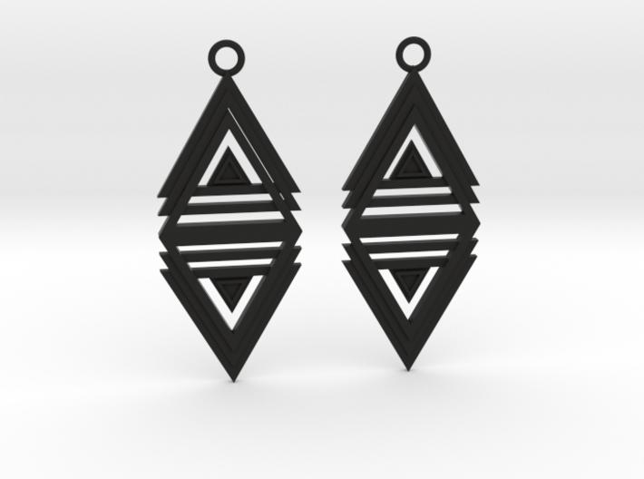 Geometrical earrings no.20 3d printed