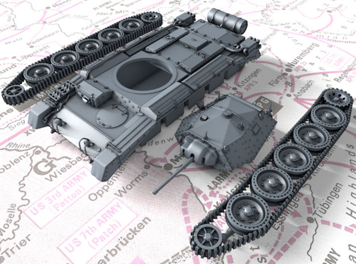 1/160 (N) Crusader Mk I Medium Tank 3d printed 3d render showing product parts