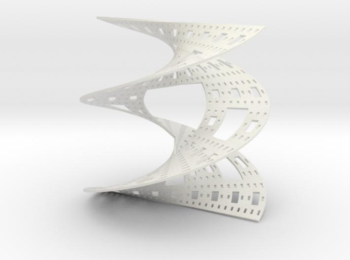 Sierpinski Carpet Helicoid 3d printed