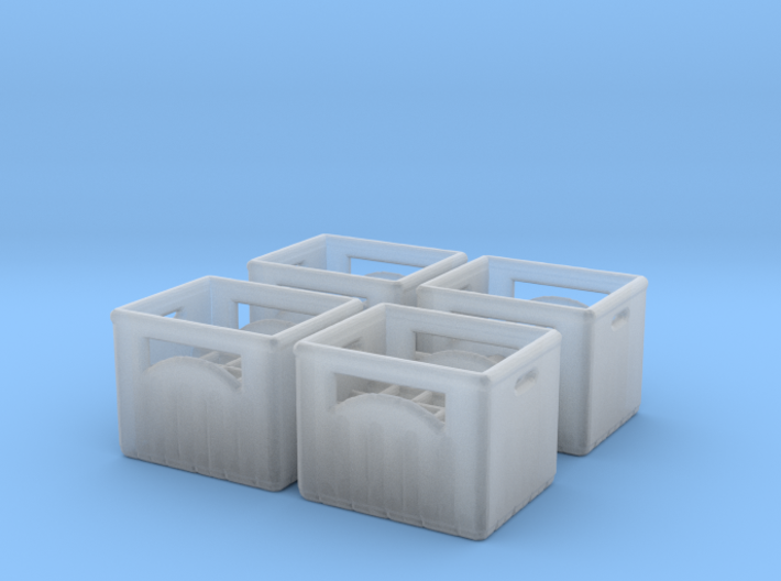 Bottle crate (4 pieces) 1/100 3d printed