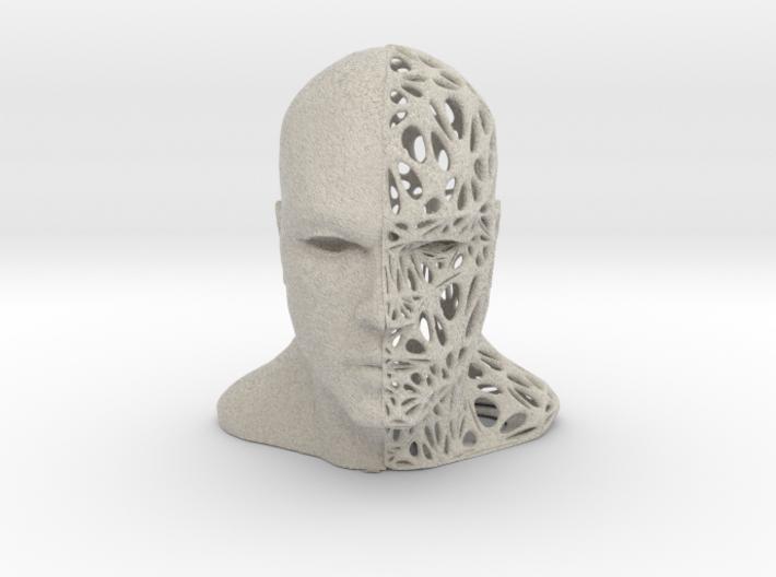 Male Split-Voronoi Head 3d printed