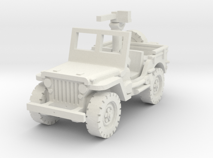 Jeep willys 30 cal (window up) 1/87 3d printed