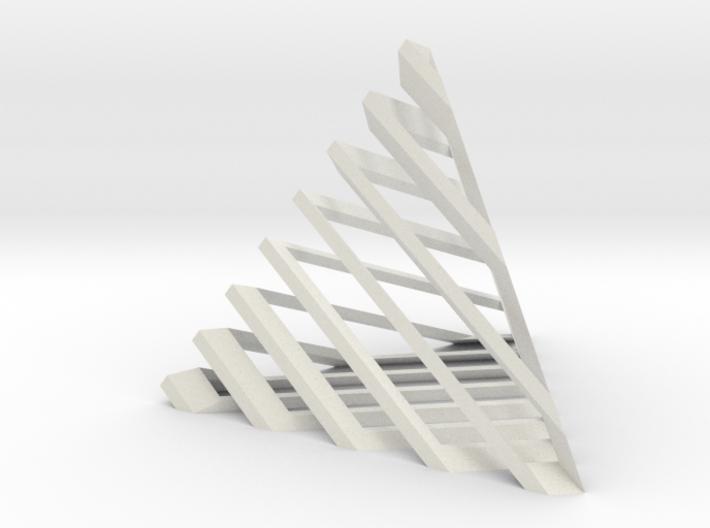 Striped tetrahedron no. 1 3d printed