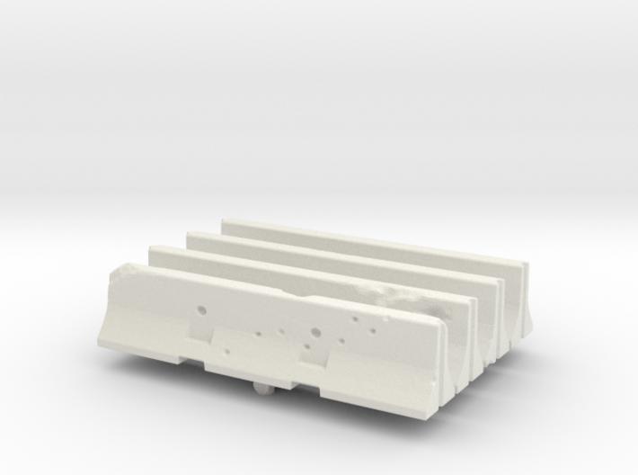 Jersey barrier (x4) 1/100 3d printed