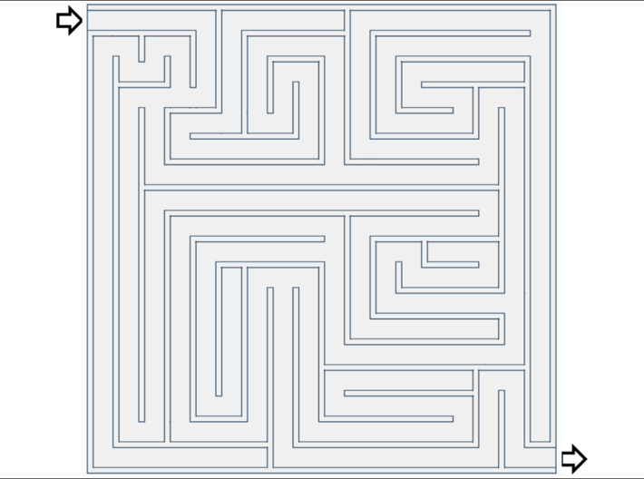 [1DAY_1CAD] MAZE [1]  3d printed
