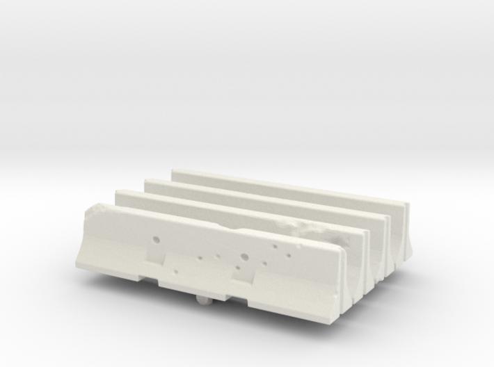 Jersey barrier (x4) 1/76 3d printed