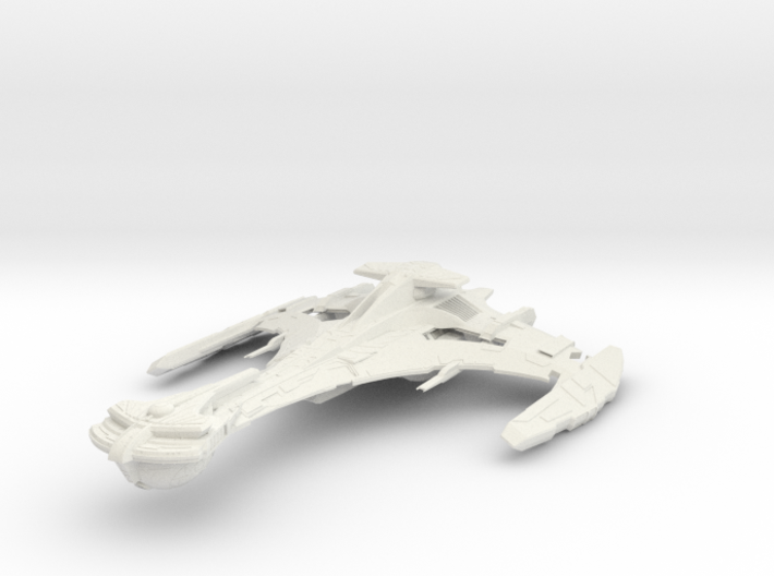 "Klingon VerTar Class WarCuiser 5.1"" 3d printed"