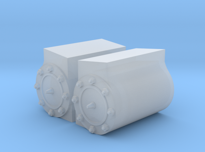 Peckett W4 Cylinder Shrouds 3d printed