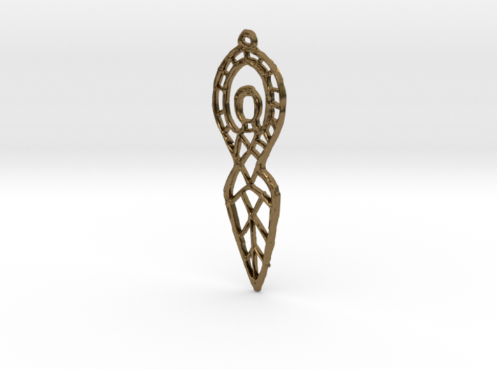 :Goddess Sketch: Pendant 3d printed