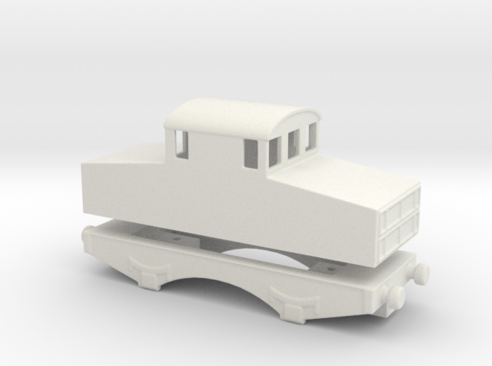 alvf armored locomtive 1916 Locotracteur 1/76 3d printed