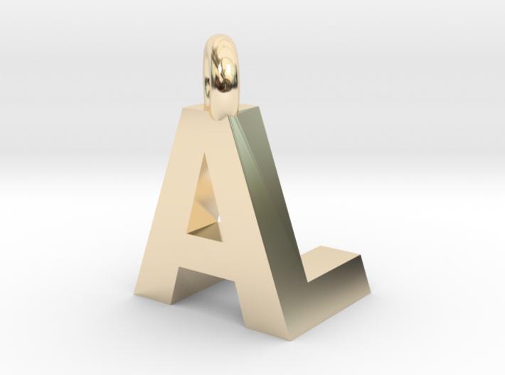 AL pendant top 3d printed