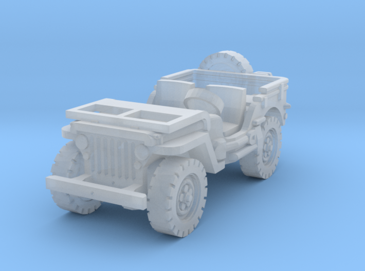 Jeep willys (window down) 1/160 3d printed